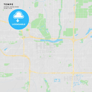 Printable street map of Tempe, Arizona - HEBSTREITS