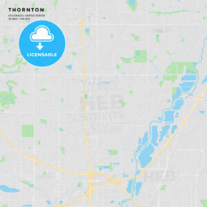 Printable street map of Thornton, Colorado - HEBSTREITS