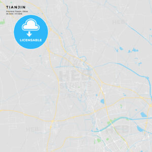 Printable street map of Tianjin, China - HEBSTREITS