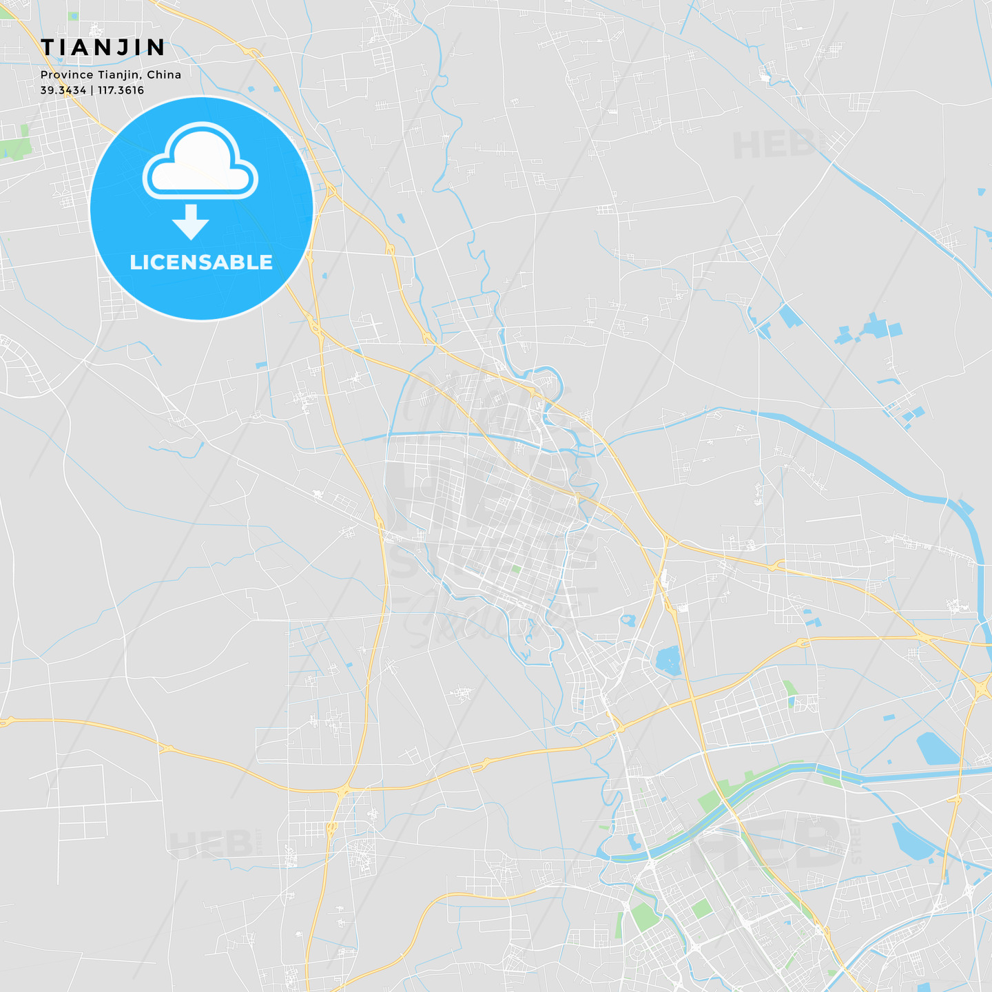 image about Printable Map of Nj identify Printable highway map of Tianjin, China