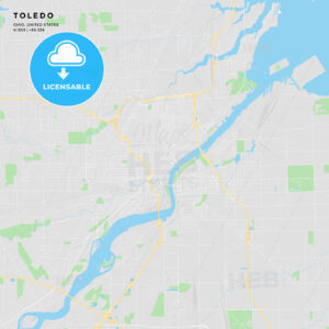 Printable street map of Toledo, Ohio - HEBSTREITS