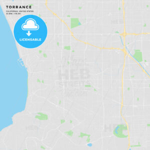 Printable street map of Torrance, California - HEBSTREITS