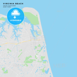 Printable street map of Virginia Beach, Virginia - HEBSTREITS