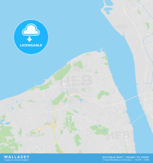 Printable street map of Wallasey, England - HEBSTREITS