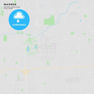Printable street map of Warren, Michigan - HEBSTREITS