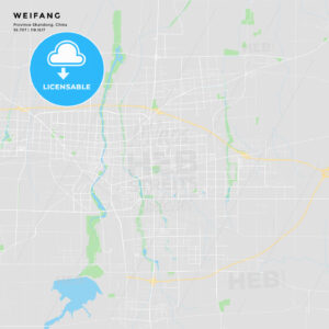 Printable street map of Weifang, China - HEBSTREITS