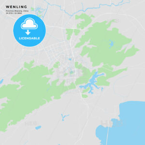 Printable street map of Wenling, China - HEBSTREITS