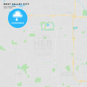 Printable street map of West Valley City, Utah - HEBSTREITS
