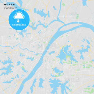 Printable street map of Wuhan, China - HEBSTREITS