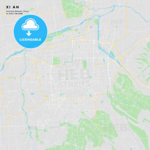Printable street map of Xi an, China - HEBSTREITS