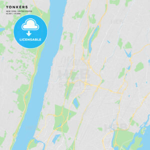 Printable street map of Yonkers, New York - HEBSTREITS