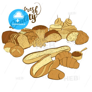 set of breads with fresh quality title - HEBSTREITS