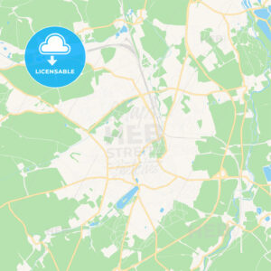 Altenburg, Germany Vector Map – Classic Colors - HEBSTREITS Sketches