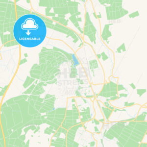 Bad Nauheim, Germany Vector Map – Classic Colors - HEBSTREITS Sketches