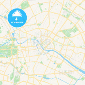 Berlin, Germany Vector Map – Classic Colors - HEBSTREITS Sketches