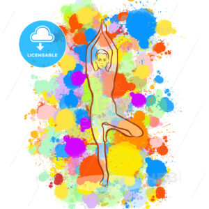 Creative tree Yoga Pose - HEBSTREITS Sketches