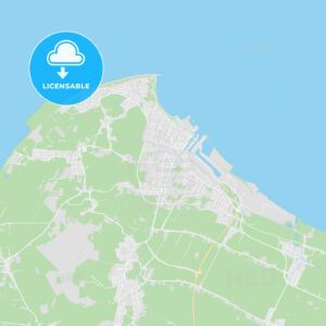 Cuxhaven, Germany printable street map - HEBSTREITS