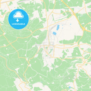 Differdange , Luxembourg Vector Map – Classic Colors - HEBSTREITS Sketches