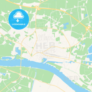 Emmerich am Rhein, Germany Vector Map – Classic Colors - HEBSTREITS Sketches