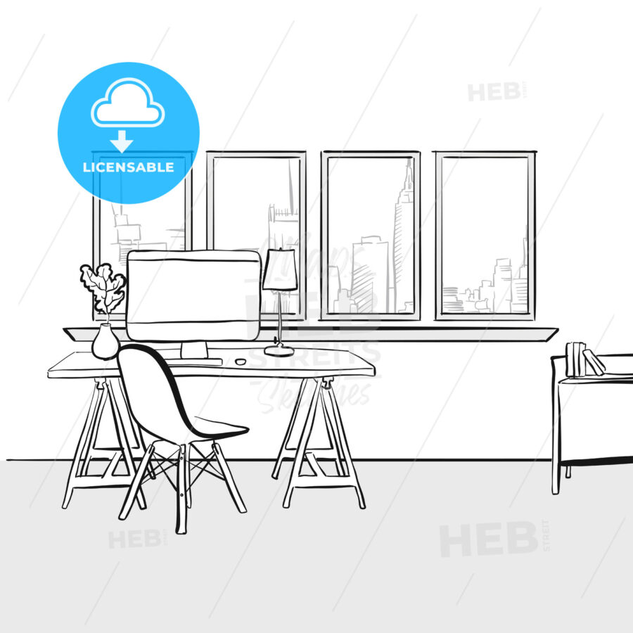 Empty home office - HEBSTREITS