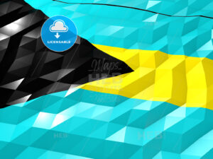 Flag of Bahamas 3D Wallpaper Illustration - HEBSTREITS Sketches