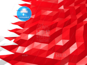Flag of Bahrain 3D Wallpaper Illustration - HEBSTREITS Sketches