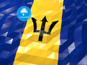 Flag of Barbados 3D Wallpaper Illustration - HEBSTREITS Sketches