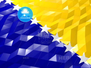 Flag of Bosnia and Herzegovina 3D Wallpaper Illustration - HEBSTREITS Sketches