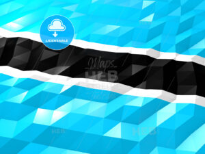 Flag of Botswana 3D Wallpaper Illustration - HEBSTREITS Sketches