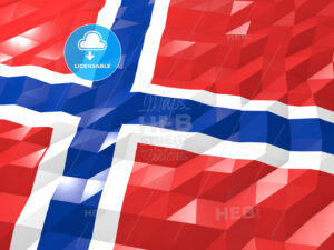 Flag of Bouvet Island 3D Wallpaper Illustration - HEBSTREITS Sketches