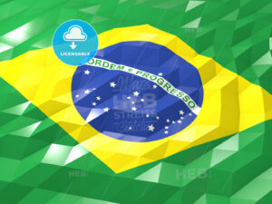 Flag of Brazil 3D Wallpaper Illustration - HEBSTREITS Sketches