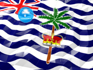 Flag of British Indian Ocean Territory 3D Wallpaper Illustration - HEBSTREITS Sketches