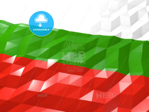 Flag of Bulgaria 3D Wallpaper Illustration - HEBSTREITS Sketches