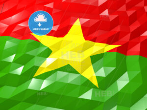 Flag of Burkina Faso 3D Wallpaper Illustration - HEBSTREITS Sketches