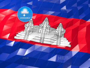 Flag of Cambodia 3D Wallpaper Illustration - HEBSTREITS Sketches