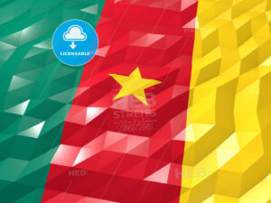 Flag of Cameroon 3D Wallpaper Illustration - HEBSTREITS Sketches