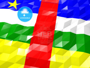 Flag of Central African Republic 3D Wallpaper Illustration - HEBSTREITS Sketches