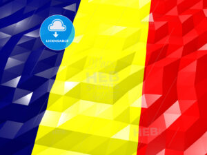 Flag of Chad 3D Wallpaper Illustration - HEBSTREITS Sketches