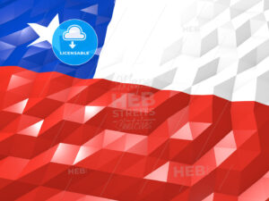 Flag of Chile 3D Wallpaper Illustration - HEBSTREITS Sketches