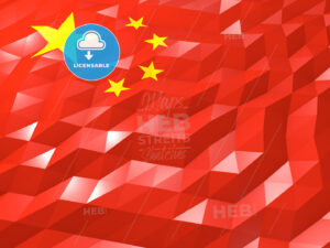 Flag of China 3D Wallpaper Illustration - HEBSTREITS Sketches