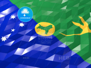 Flag of Christmas Island 3D Wallpaper Illustration - HEBSTREITS Sketches