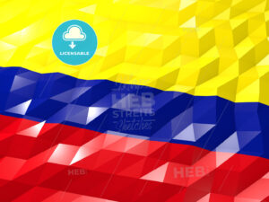 Flag of Colombia 3D Wallpaper Illustration - HEBSTREITS Sketches