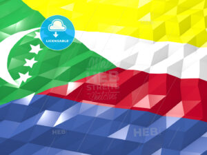Flag of Comoros 3D Wallpaper Illustration - HEBSTREITS Sketches