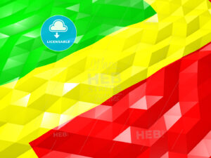 Flag of Congo 3D Wallpaper Illustration - HEBSTREITS Sketches