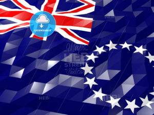Flag of Cook Islands 3D Wallpaper Illustration - HEBSTREITS Sketches