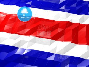 Flag of Costa Rica 3D Wallpaper Illustration - HEBSTREITS Sketches