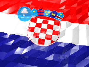 Flag of Croatia 3D Wallpaper Illustration - HEBSTREITS Sketches