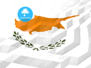 Flag of Cyprus 3D Wallpaper Illustration - HEBSTREITS Sketches