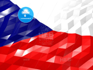 Flag of Czech Republic 3D Wallpaper Illustration - HEBSTREITS Sketches