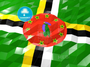 Flag of Dominica 3D Wallpaper Illustration - HEBSTREITS Sketches